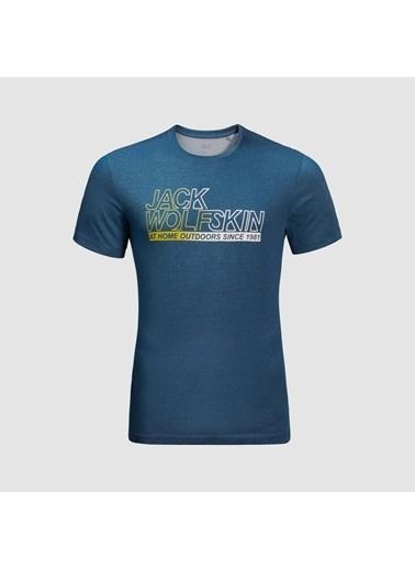Jack Wolfskin Ocean Tee Erkek T-Shirt - 1806541-1134 Mavi